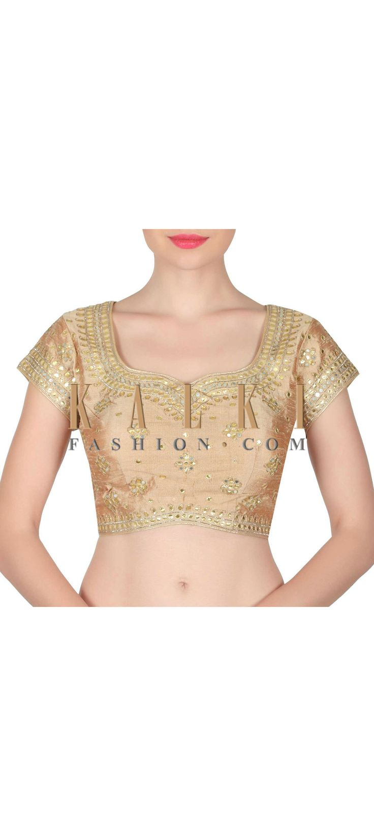 Buy this Beige blouse adorn in gotta patch work only on Kalki