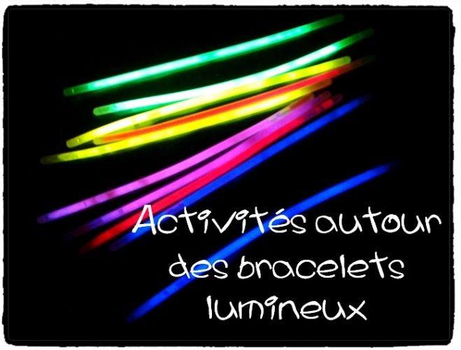 Quelques activités à faire avec les bracelets lumineux