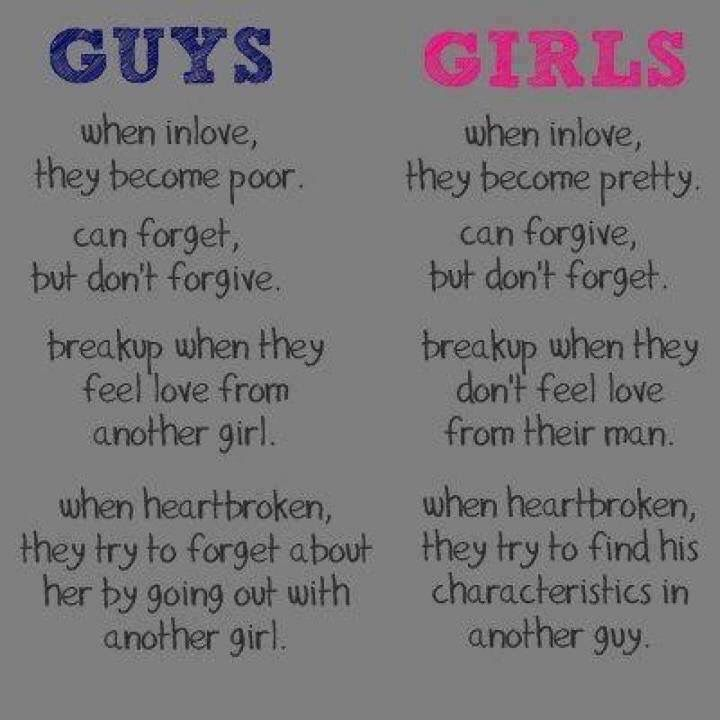 Are girls and guys really different