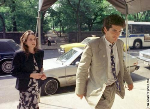 John Kennedy Jr. and girlfriend, Christina Haag, arrive after John's graduation at his mother's Fifth Avenue apartment in New York City in 1989.