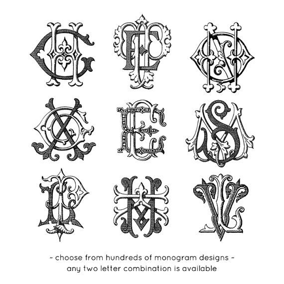 Vintage monogram machine embroidery file by VintageMonogram