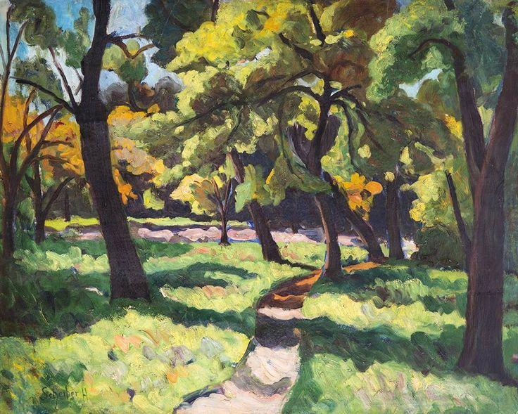 SCHEIBER HUGÓ (1873-1950)    PARK