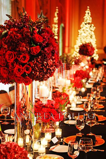 518 best RED WEDDINGS and CENTERPIECES images on Pinterest ...
