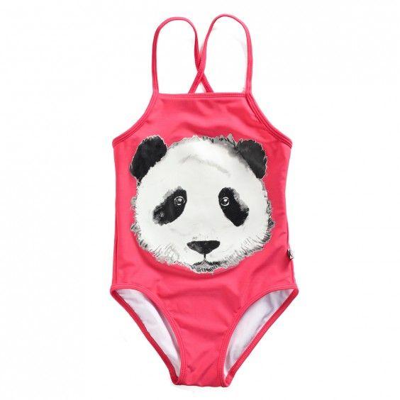 Minti Swimsuit Painted Panda - Red