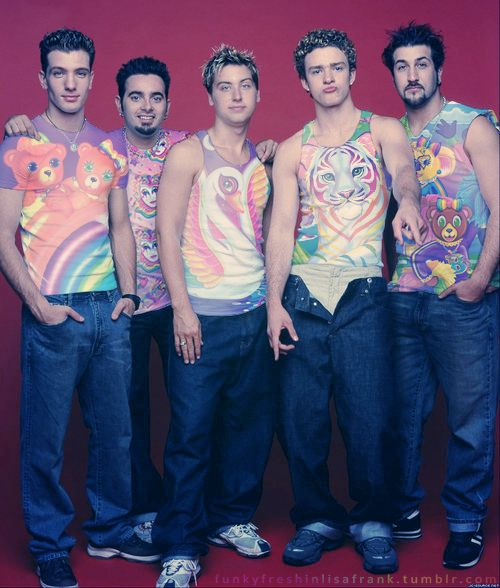 NSYNC in Lisa Frank. You're welcome.