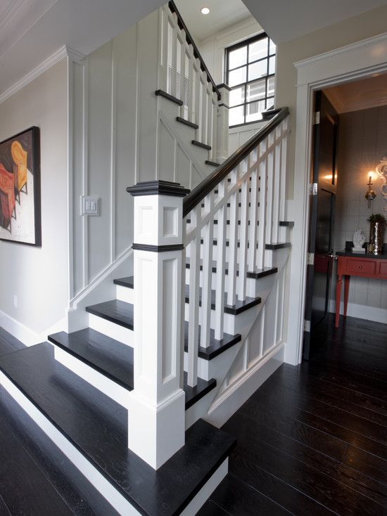Traditional Staircases Design, Pictures, Remodel, Decor and Ideas - page 49 Paneling on the wall.
