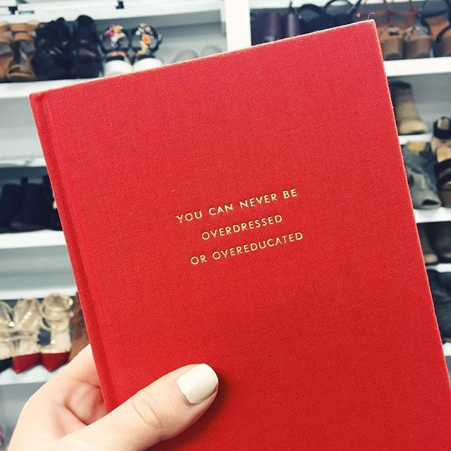 you can never be overdressed or overeducated <3 kate spade notebook x shopriffraff.com