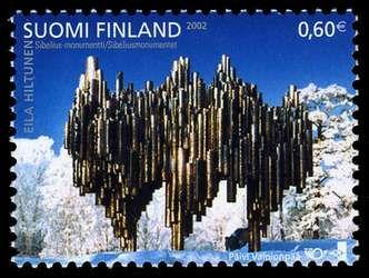 Stamp, Sibelius Monument, 2002