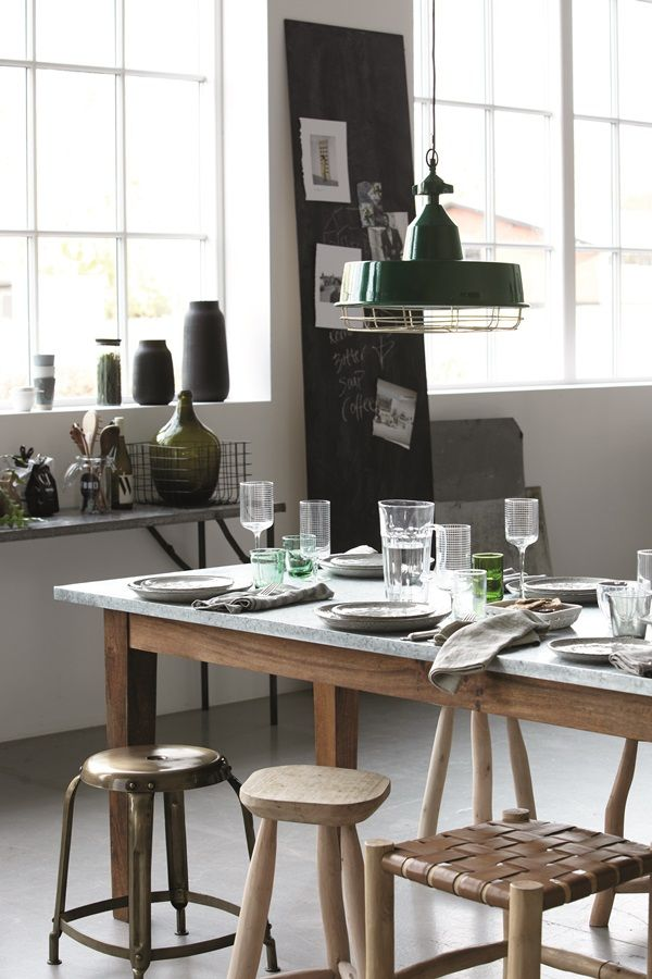 Beautiful Dining with Different Stools / House Doctor 2015 Catalogue