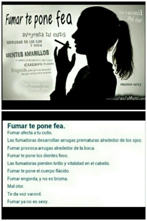 Mujer el fumar...