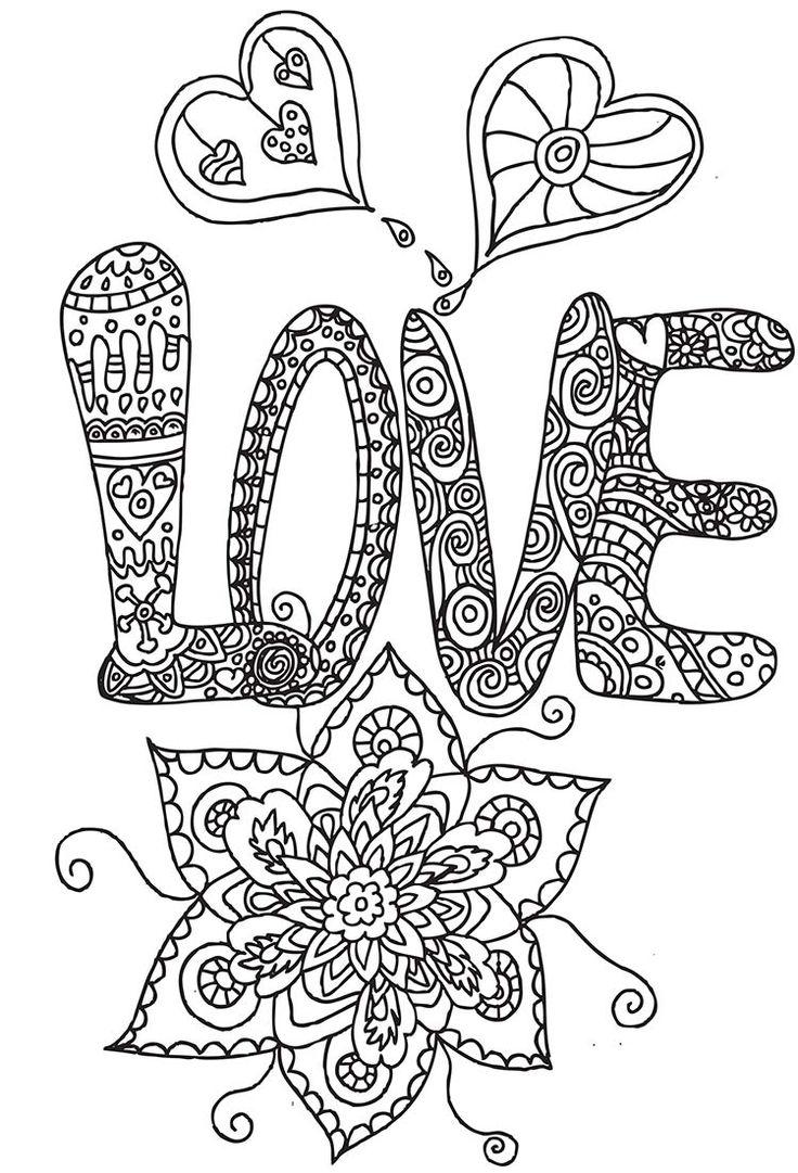 140 best images about hearts to color on pinterest - Coloriage gratuit pour adulte ...