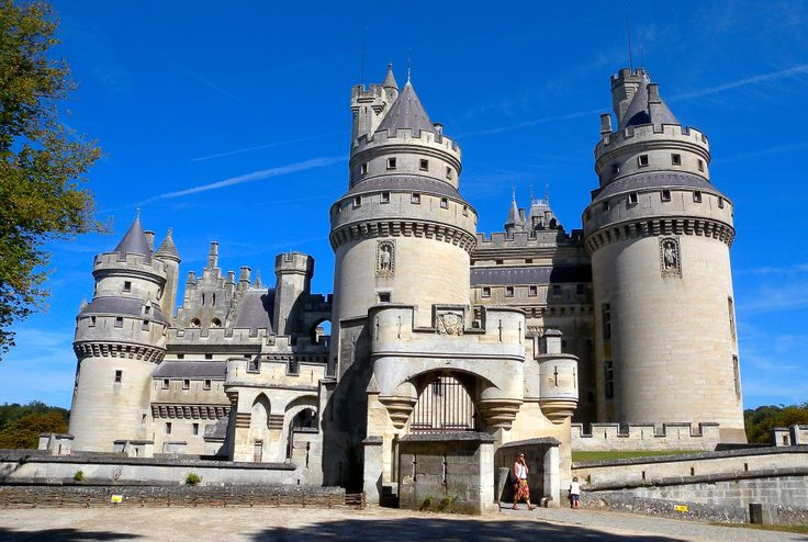 France, Pierrefonds. The famous Château de Pierrefonds is near Compiegne (1 hour from Paris)... redesigned by Viollet le Duc for Napoleon 3. A gorgeous place to be visited !