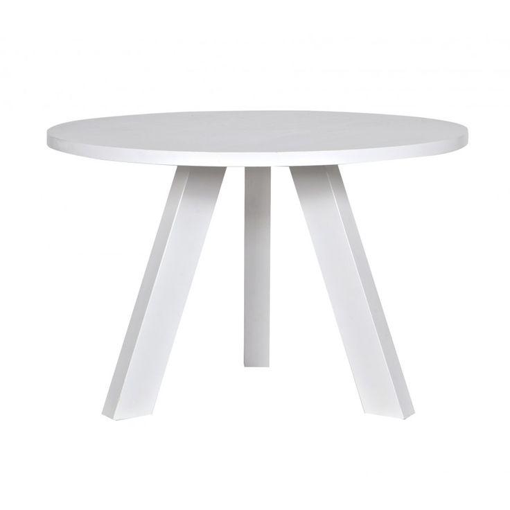 Rhonda eettafel wit rond Ø130cm