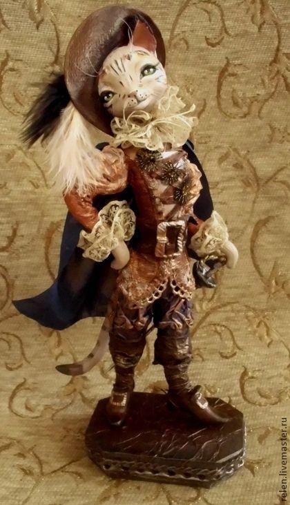 Игрушки животные, ручной работы. Ярмарка Мастеров - ручная работа. Купить Кот в сапогах. Handmade. Оранжевый, интерьерная кукла, котик