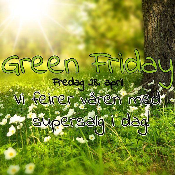 Hurra det er Green Friday! Sjekk ut Slikkepott.no for mange gode tilbud!