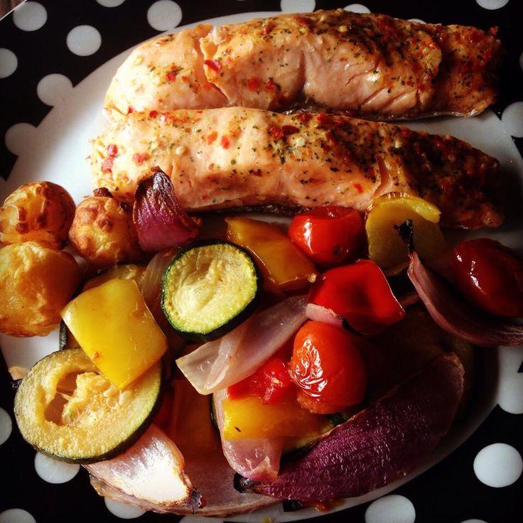 Salmon & Mediterranean veg
