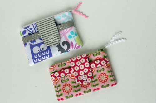 Cute Little Zip Wallets Craft Ideas Pinterest Zip Wallet