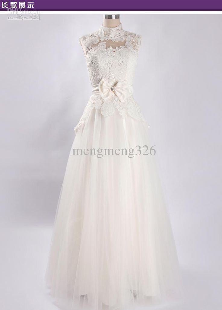 2013 custom lace wedding dresses! Keyhole wedding dress corset turtleneck dress Free shipping