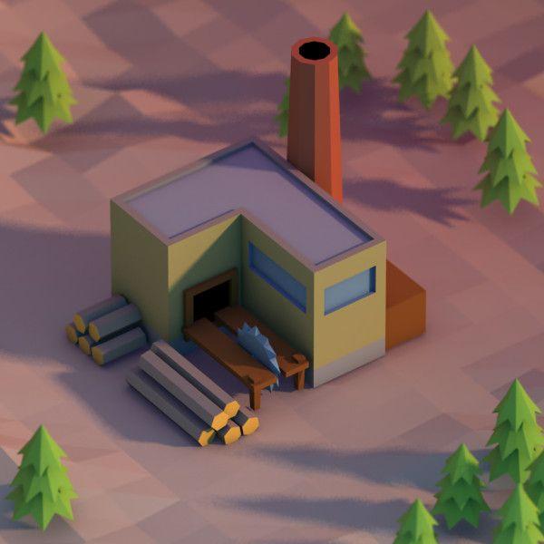 sawmill 3d model - Pesquisa Google