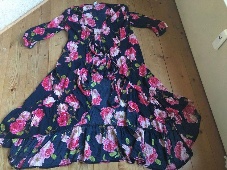 kimono mantel hinten laenger als vorn schwarz bunt blumenprint 38