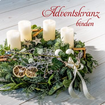 Adventskranz binden