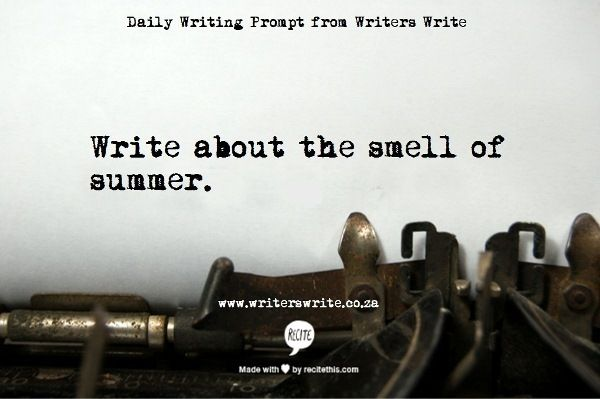 Great writing prompts from Writers Write