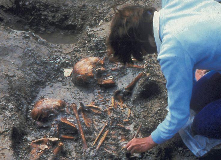 Grafveld uit de Romeinse tijd, gevonden in Valkenburg ZH