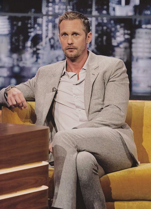 """skarsgardaddict: """" Alexander Skarsgård @ The Jonathan Ross Show """""""