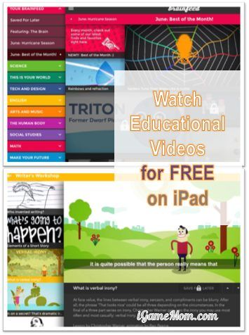 Watch Educational Videos on iPad for Free - not books, but you can use them as as eBooks #kidsapps