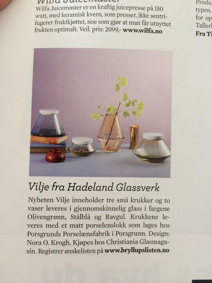 Vaser fra Vilje fra Hadeland glassverk