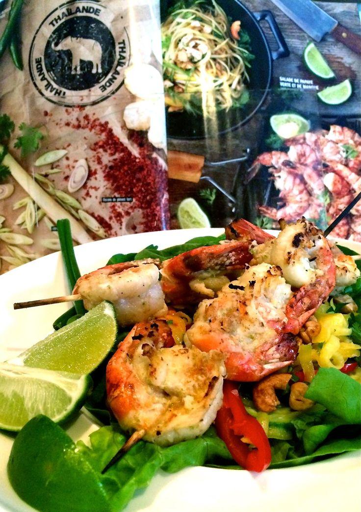 Madame Anne aux fourneaux: Crevettes à la Thaïe