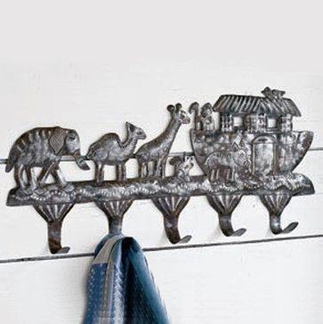 Primitive Noah's Ark Rack traditional nursery decor