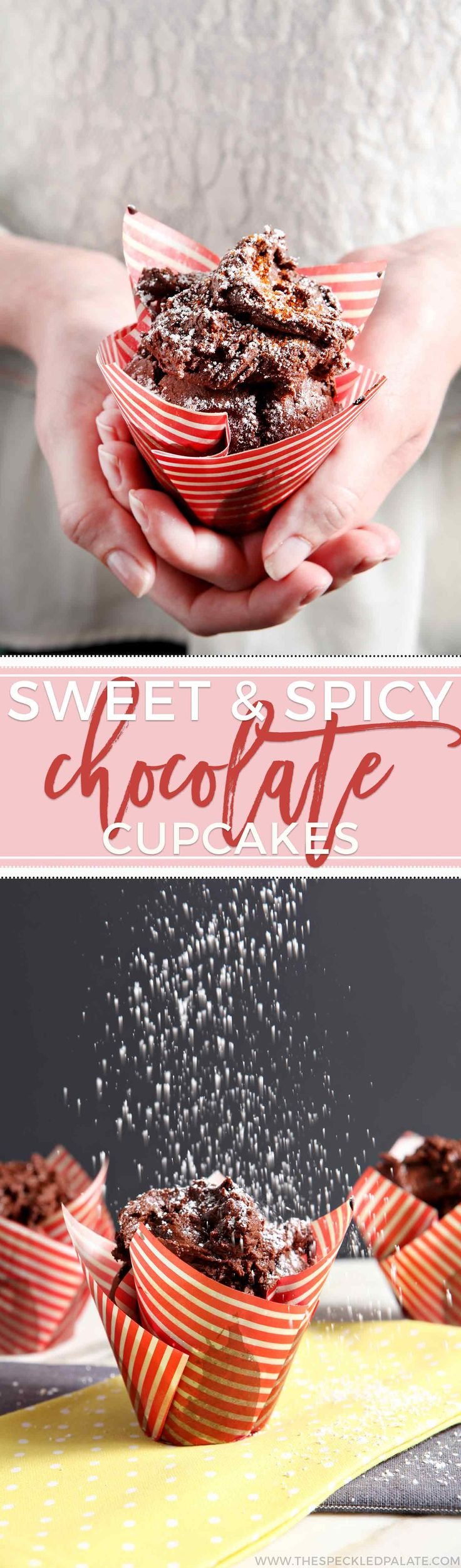 Heat up dessert with Sweet and Spicy Chocolate Cupcakes! A nod to Mayan Hot Chocolate, this baked good is perfect for anyone who loves their sweet with spice. #recipe #baking #chocolate