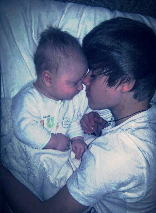 Justin and Jaxon sleeping. Too cute.