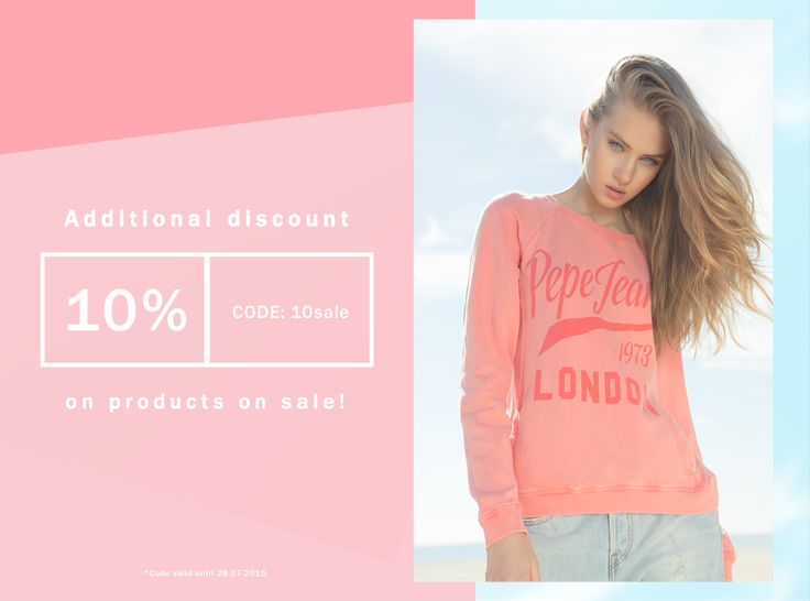 Additional #discount  10% Code: 10sale On products on #sale #code valid until 28.07