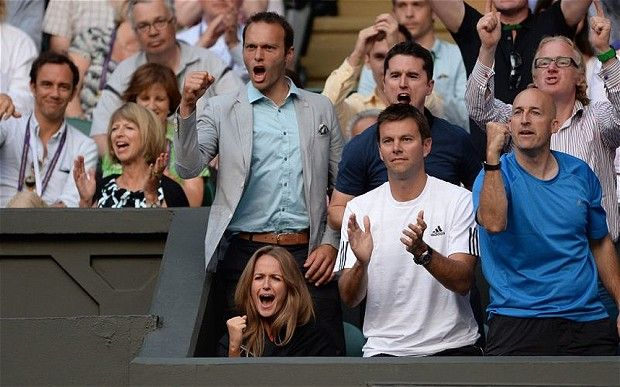 ROOTING FOR ANDY MURRAY IS GIRLFRIEND KIM SEARS Andy+Murray+Girlfriend | Support act: Andy Murray's girlfriend Kim Sears and Ross Hutchins ...