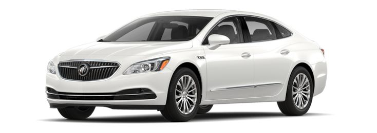 Image of the 2018 Buick LaCrosse full-size luxury sedan in white frost tricoat.