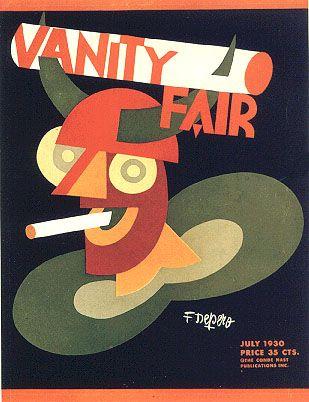 Portada de Fortunato Depero para Vanity Fair - Julio 1930 (Italian Futurism)