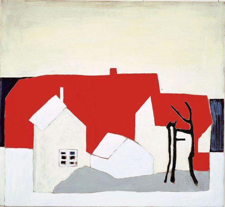 Hanne Borchgrevink, Hus-i-nord-II-2000.-Lillehammer-Kunstmuseum