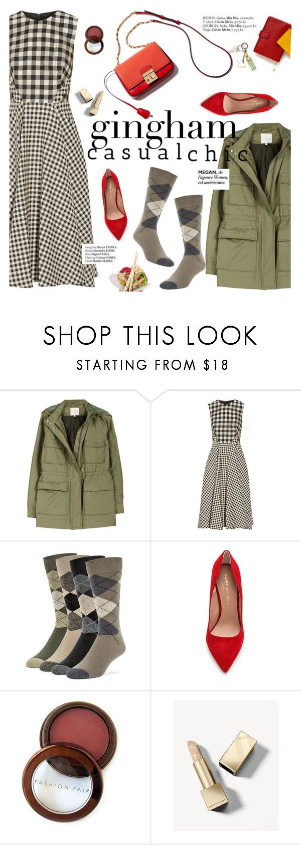 """Gingham casual chic"" by punnky ❤ liked on Polyvore featuring Joie, Lela Rose, Haute Hippie, Maryam Keyhani, Kurt Geiger, Fashion Fair, Burberry and PATH"