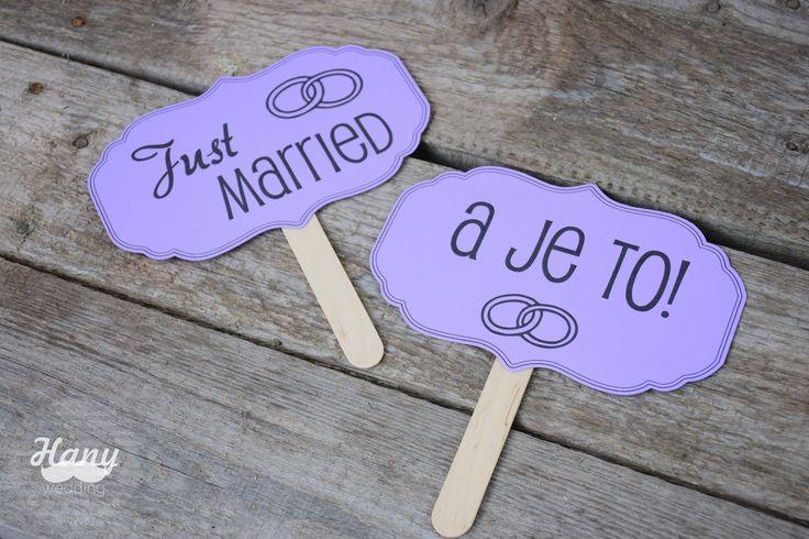 Svatební fotocedulky - married