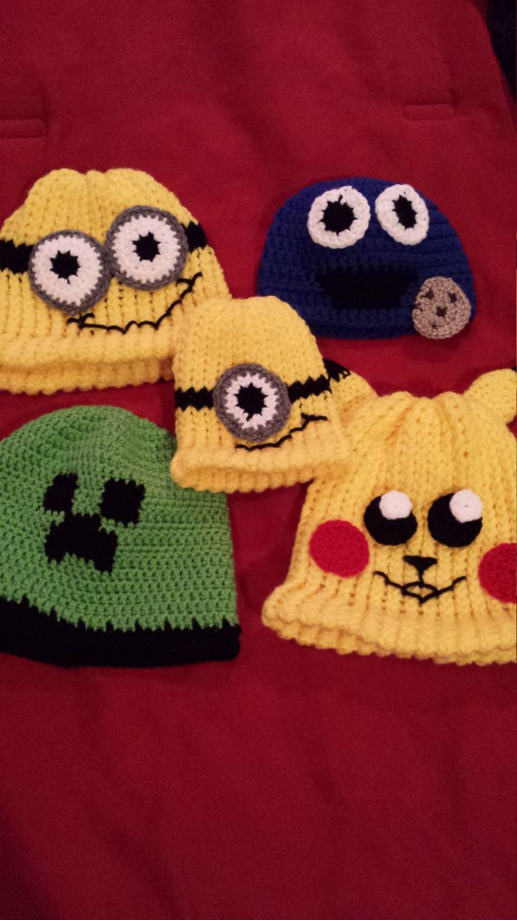 Character Beanies by FabNGrab on Etsy