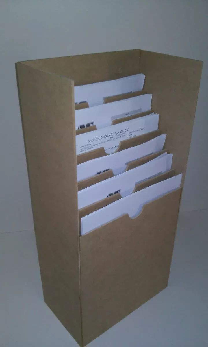 exhibidor de hojas organizador de documentos de pared