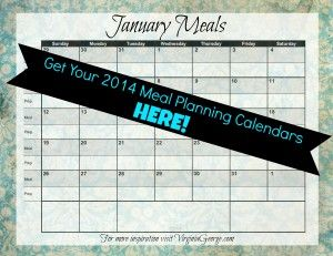 Organizing Life: Making a Meal Plan and [FREE Printable Meal Planning Calendars!] - Virginia George