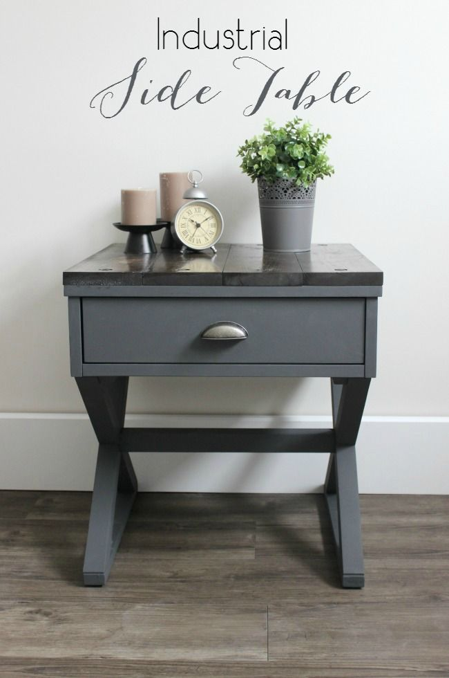 25 best ideas about Industrial side table – Make Your Own End Table
