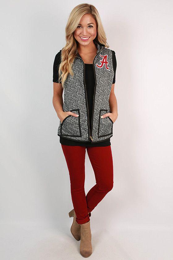 University Of Alabama Herringbone Vest