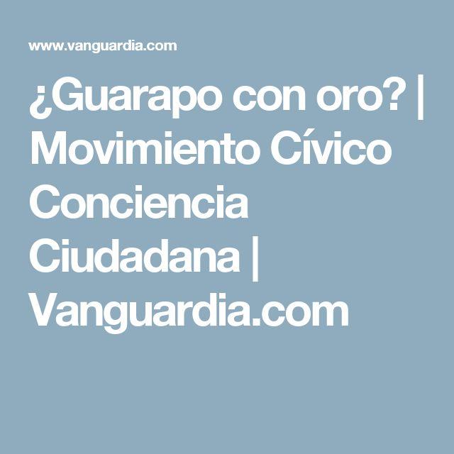 ¿Guarapo con oro? | Movimiento Cívico Conciencia Ciudadana | Vanguardia.com