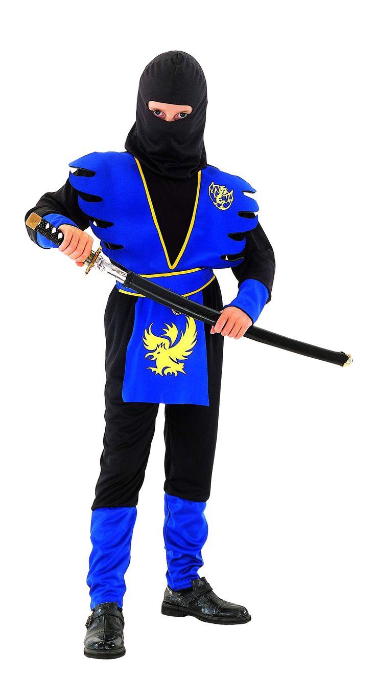 MET ACCESSOIRES Blauwe ninjavermomming voor jongens : Kinder Kostuums, en goedkope carnavalskleding - Vegaoo