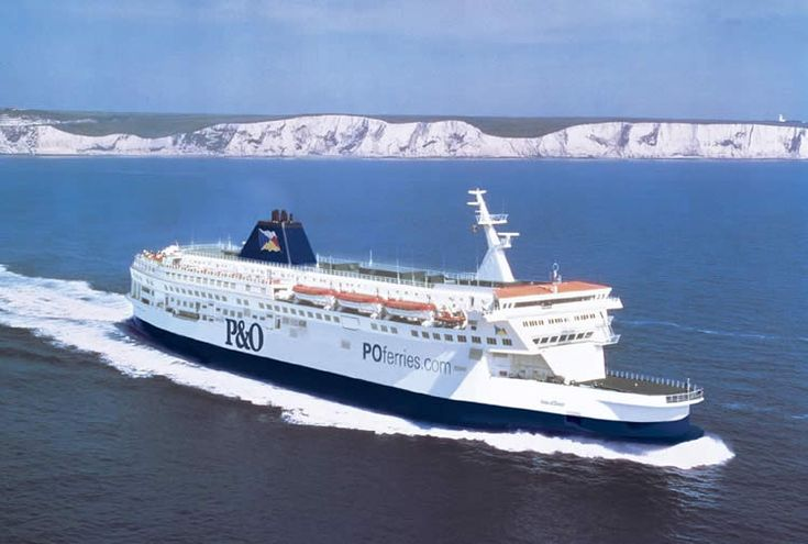 Ferry between Calais, France and Dover, England <3