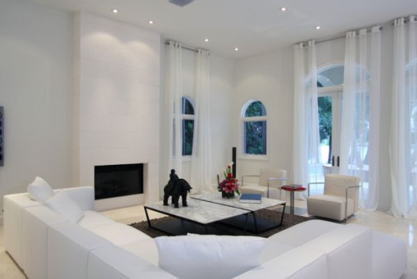 Awesome Living Room Design to Your House: Beautiful Living Room Decoration With White Interior Design